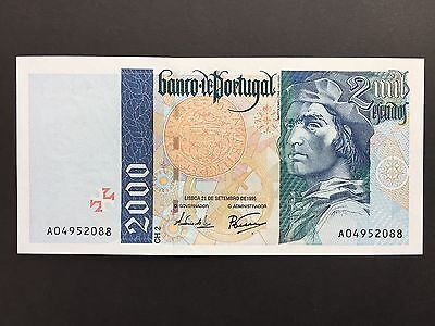 Portugal 2000 Escudos P189a 1st Issue Dated 21st September 1995 Uncirculated UNC