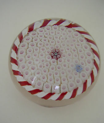 Rare American Parabelle Gary Scrutton Millefiori Fully Signed Paperweight 1993