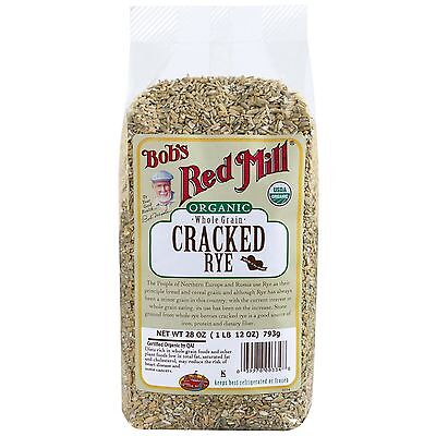 Bob's Red Mill, Organic, Cracked Rye, Whole Grain, 28 oz (793 g)