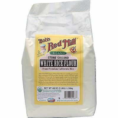 Bob's Red Mill, Organic White Rice Flour, 48 oz (1.36 kg)