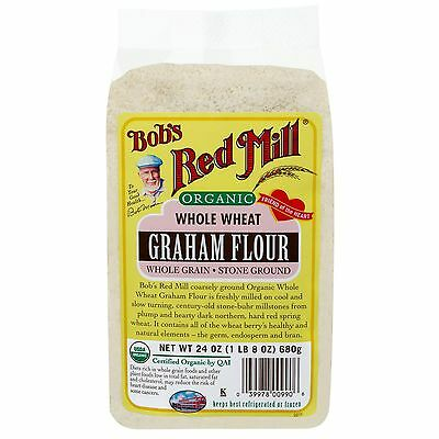 Bob's Red Mill, Organic Whole Wheat Graham Flour, 24 oz (680 g)