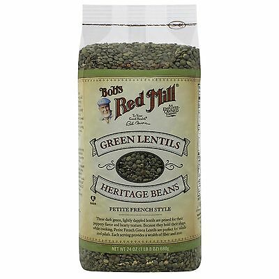 Bob's Red Mill, Green Lentils Heritage Beans, Petite French Style, 24 oz (680 g)