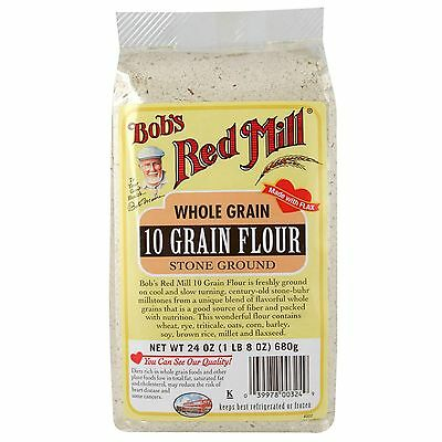 Bob's Red Mill, 10 Grain Flour, Whole Grain, 24 oz (680 g)