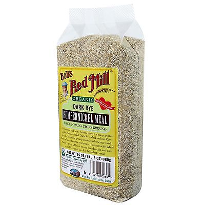 Bob's Red Mill, Organic Dark Rye, Pumpernickel Meal, 24 oz (680 g)