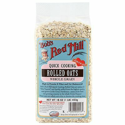 Bob's Red Mill, Quick Cooking Rolled Oats, Whole Grain, 16 oz (453 g)