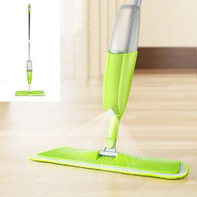 350Ml Spray Mop Water Spraying Floor Cleaner Tiles Microfibre Marble Kitchen