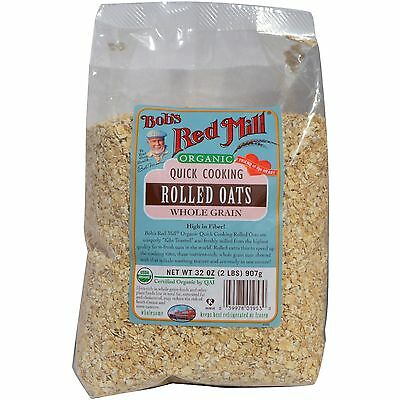 Bob's Red Mill, Organic Quick Cooking Rolled Oats, Whole Grain, 32 oz (2 lbs) 90
