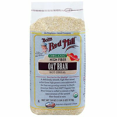 Bob's Red Mill, Organic, Oat Bran Hot Cereal, 18 oz (510 g)