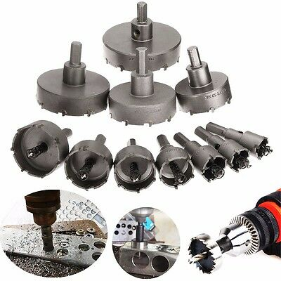11pcs 20-75mm Carbide Stainless Steel Tip TCT Drill Bits Hole Saw Metal Alloy