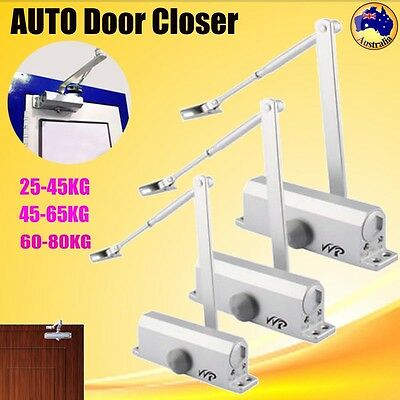 Heavy Duty Adjustable Auto Door Closer Fire Rated 25~80KG Home Automatic 3 Size