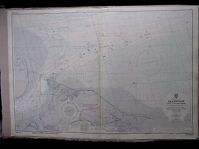 """1966 SHEERNESS & APPROACHES - Nautical Admiralty Chart Sea Map 28"""" x 41"""" A30"""