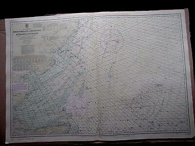 """1972 NORTH FORELAND to ORFORDNESS THAMES Entrance - Sea Map 28"""" x 41"""" A24"""