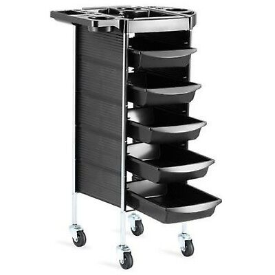 6 Tiers Salon Spa Hairdresser Trolley Equipment Rolling Storage Tray Cart Drawer