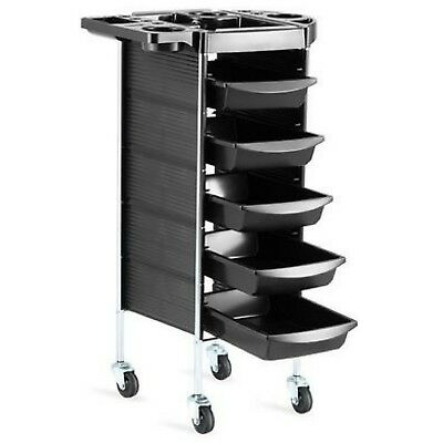 Beauty Spa Hairdresser Coloring Hair Salon Trolley Rolling Storage Cart 6 Tiers