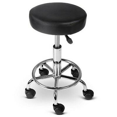 Salon Stool Swivel Barber Hairdressing Saddle Round Chair Hydraulic Lift Black