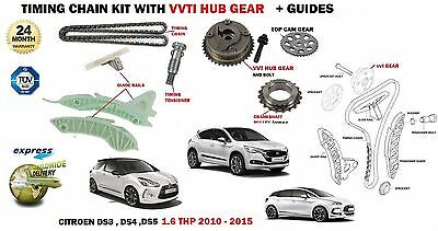For Citroen Ds3 Ds4 Ds5 1.6 Thp 5Fm 5Fv 5Fd 2010-> Timing Chain Kit + Vvt Gear
