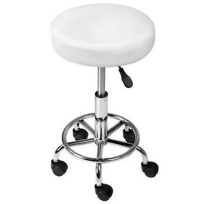 Salon Stool Swivel Barber Hairdressing SADDLE ROUND Chair Hydraulic Lift White