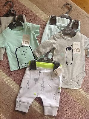 New Baby Newborn upto 7.5lbs Mothercare outfit Bundle Boy With Tags RRP £30