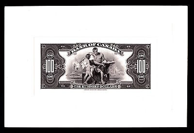 Incredible Bank of Canada 1935 Issue $100 Dollar Full Colour Back Proof