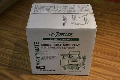 Zoeller M53 Mighty Mate Submersible Sump Pump 1/3 Hp
