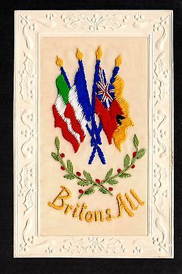 """Embroidered Silk - """"Britons All"""""""