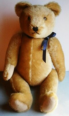 A Large Vintage Golden Mohair Hermann Bear, c.1950, made in Germany