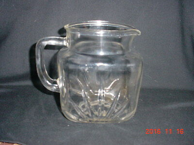Vintage Federal Glass Company - 36 Oz Square Pitcher in Star-Clear Pattern