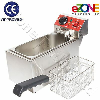 Table Top Fryer 6L 2Kw CE Commercial Catering Quality 60–200°C Stainless Steel