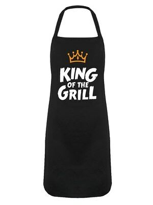 King Of The Grill Black Apron