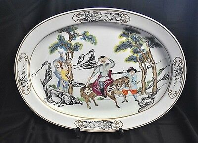 The Nelson Rockefeller Collection Mottahedeh Chinese Export Porcelain Platter