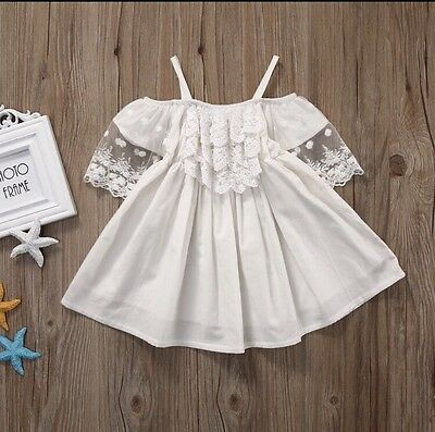 SALE ** Baby Girls Dress Boutique Lace Summer Holidays Party Pretty Lace 12M-24M