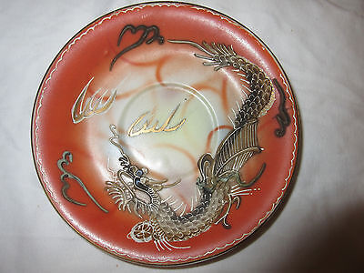 Rare Antique Dragon Plate With Beautiful Raised And Detailed Dragon