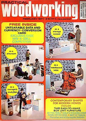Vintage Practical Woodworking 43314 February 1971 Box Unit Furniture