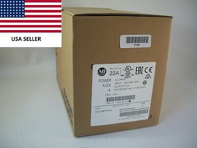 *Ships Today 2016* Allen Bradley 22A-D8P7N104 Power Flex 4 Drive New Sealed 5HP
