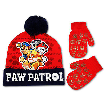 Nickelodeon Paw Patrol Hat and Mitten Cold Weather Set, Toddler Boys, Ages 2-5