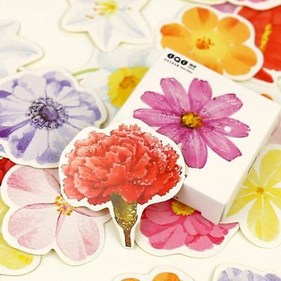 45 PCs/lot Vintage Romantic Diary Decal Flakes Flower Stickers Label