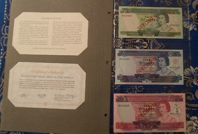 Solomon Islands Complete 3 Specimen Set 1979 000465 Cs1 P5-7 Gem Unc Low Serial