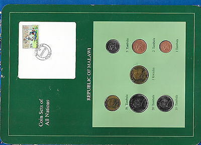 Coin Sets of All Nations Malawi 1995-1996 UNC 1 Kwacha 50,20 Tambala 96