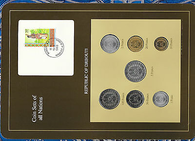 Coin Sets of All Nations Djibouti w/card 1977-1991 UNC 50 Francs 1989