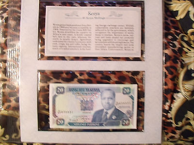 *Most Treasured Banknotes Kenya 20 Shillings 1992 P 25e UNC prefix H/27