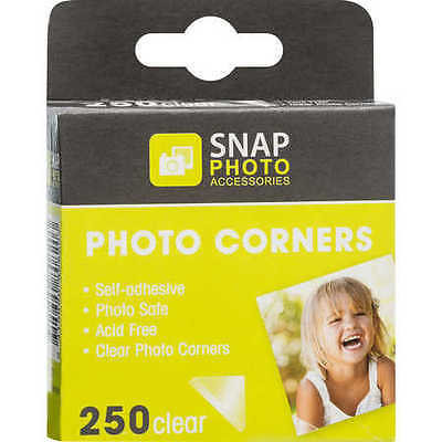 NEW Snap Photo Accessories Photo Corners 250 Pack