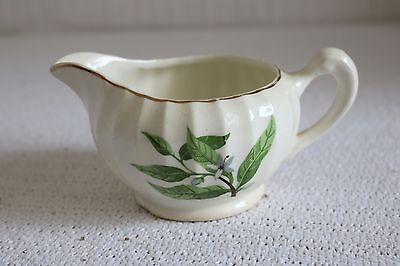 W S George Pottery GREEN VALLEY B-8760 Bolero Orange Blossom Creamer 8 oz 2 7/8""