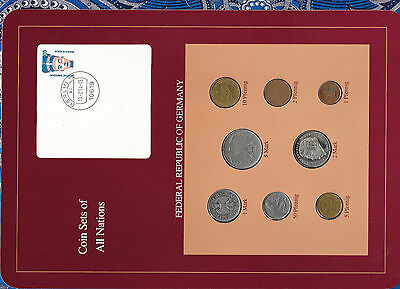 Coin sets of all nations Germany 1971-1992 UNC 5 Marks 1975 2 Marks 1992