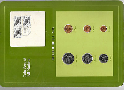 Coin Sets of All Nations Iceland All 1981 but 5,10 Kronur 1984