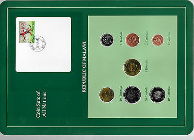 Coin Sets of All Nations Malawi 1995-1996 UNC 1 Kwacha 50,20 Tambala 1996