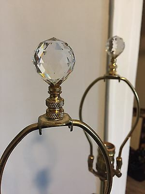 Beautiful Antique Lamps w/ Crystal topper.