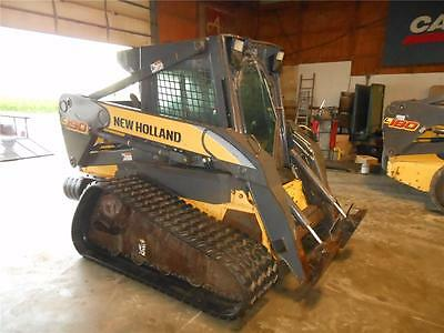 New Holland C190 Skid Steer Loader, Cab, AC/Heat, 2 Speed, AUX Hydraulics, 80 HP