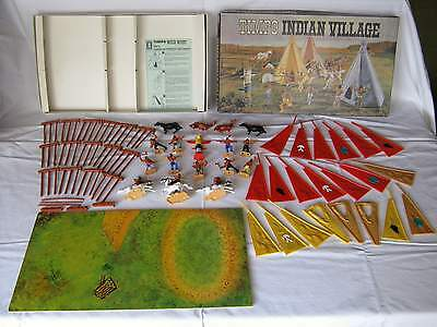 Timpo Toys Indianerdorf Indian Village de Peaux-Rouges in OVP Originalverpackung