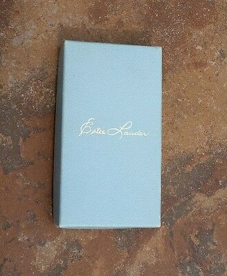 Vintage Estee' Lauder Blue Perfume Cosmetic Box Only