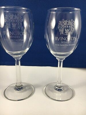 Byington Winery Santa Cruz Mountains Wine Glasses Set On 2